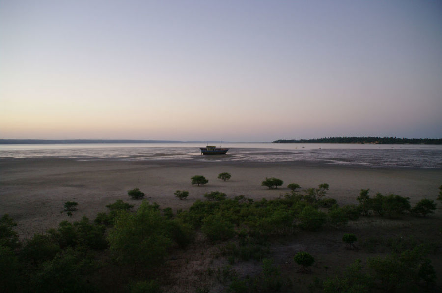 Mozambique. Beach Beauty In Nature Clear Sky Day Horizon Over Water Inhambane Landscape Nature Nautical Vessel No People Outdoors Scenics Sea Shipwreck Sky Sunset Tranquil Scene Tranquility Travel Destinations Water