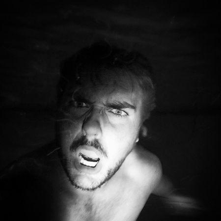 I'm a Shark . Lol. Goproguy Gopro Hero3 gopro_boss baldwinparkfl flogrown lovefl gopropeople underwater nightswim eyeballin rarrr orlando hazel