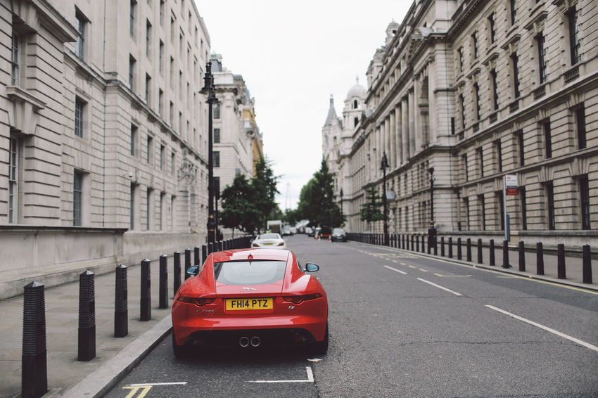 Architecture Building Exterior Built Structure Car City City Life Diminishing Perspective Land Vehicle Mode Of Transport Office Building Outdoors Red Road Sky Street Tall - High The Way Forward Transportation Vehicle London Lifestyle The Drive