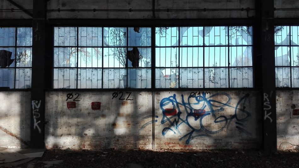 Graffiti Window Abandoned Places Abadoned Factory Factory Building Old Factory Building The Secret Spaces