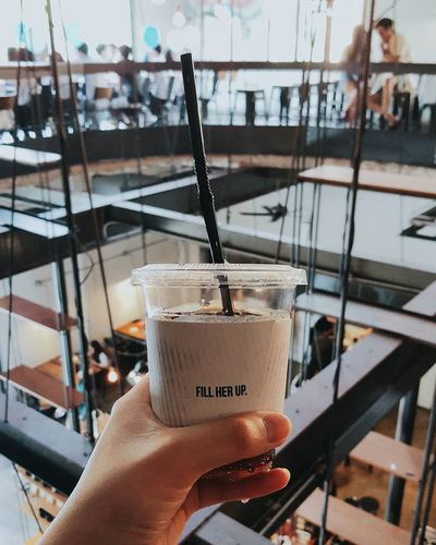 Context Drink Human Hand Drinking Glass Food And Drink Drinking Straw Cold Temperature Refreshment Holding One Person Personal Perspective Ice Drinking People Lifestyles Focus On Foreground Coffee VSCO Mood Hipster Cafe Chill Indoors  Coffee Shop