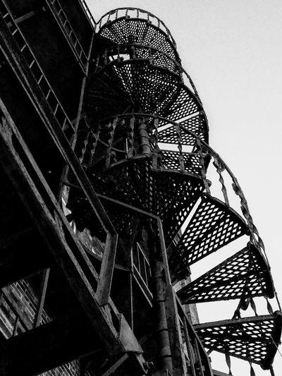 Fire Escape Fire Escape Blackandwhite Small Town America Rusted Metal  Olympus Epl6