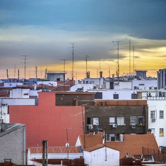 Rooftops Buildings Signs Sunset good night!!!