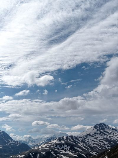 Beauty In Nature Cloud - Sky Day Landscape Mountain Mountain Range Nature No People Outdoors Scenics Sky Snow Snowcapped Mountain Tranquil Scene Tranquility