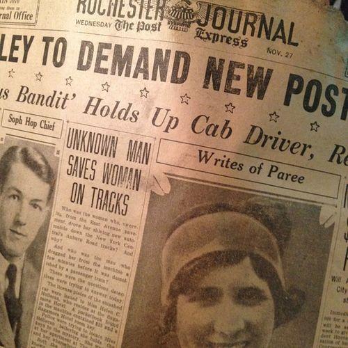 Found History Rochester Newspaper