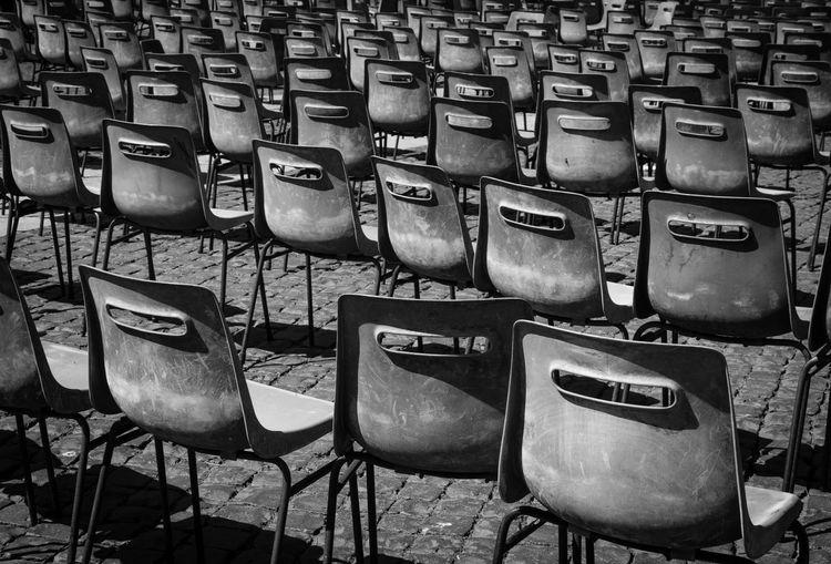Full Frame Shot Of Chairs