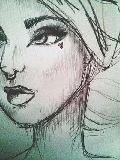 Hi. Art Sketching Sketch Doodling Heart Moleskine