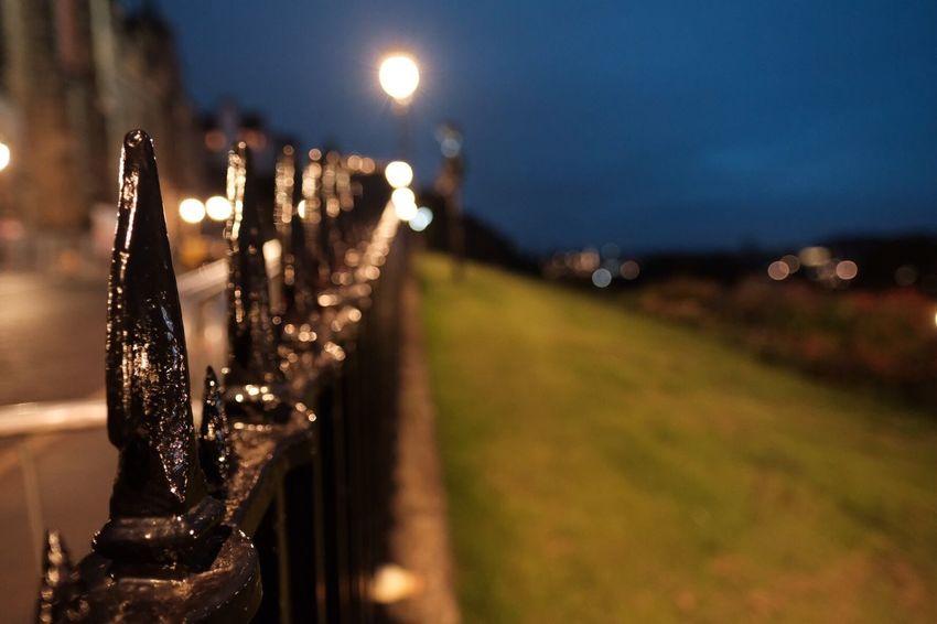 Nighttime Nightime Photography Edinburgh Fringe Edinburgh Castle Blue