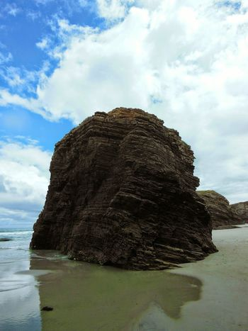 The Great Outdoors With Adobe Playa De Las Catedrales Lugo Sky And Clouds Seaside Seashore The Great Outdoors - 2016 EyeEm Awards Landscape