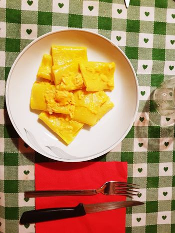 #pasta #italianfood # Directly Above Table Plate Close-up Food And Drink Sweet Food