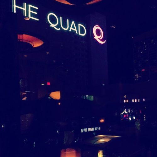 The view from dinner Thequad Harrahs  Lasvegas