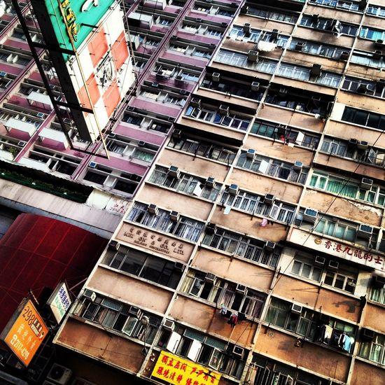 Air-condition Apartment Architecture Building Building Exterior Façade Hong Kong Low Angle View Residential Building Residential Structure
