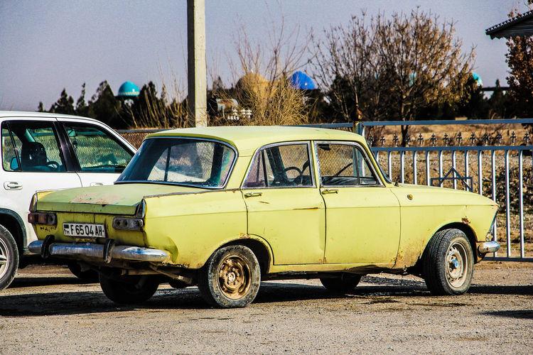 Travel Destinations Rusty Old Soviet Car