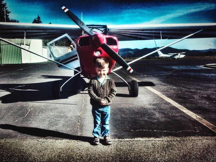Northern California Mendocino County One Person Childhood Real People Outdoors Enjoying Life Airplane Sport Airport Photography