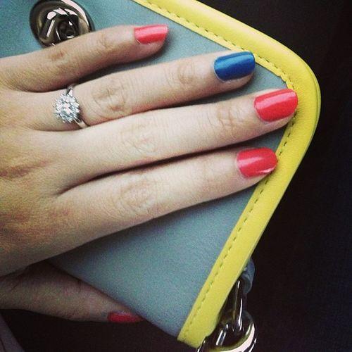 New nail colour! Loreal Jetsettoparis Tangerinecrush