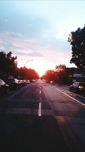 Beautiful Sunset Montreal Street Art Tree Sky Cloud - Sky Car Road ..
