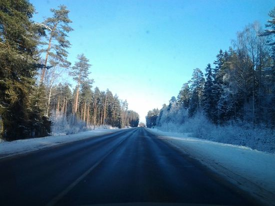 one side on the sun other snowy :-) Valmiera Ridearound Natureinwinter