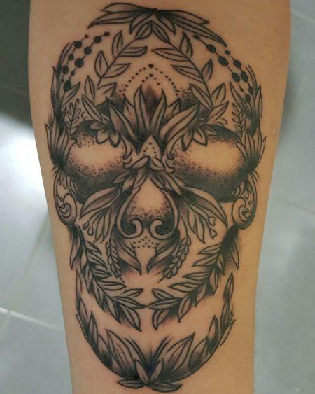 Pattern Human Body Part Close-up People Tattoo NewInk Skull Skulltattoo