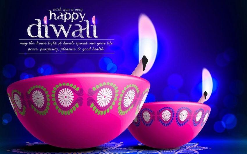 THIS IS THE DIWALI HINDU FESTIVAL CELEBRAATION Blue