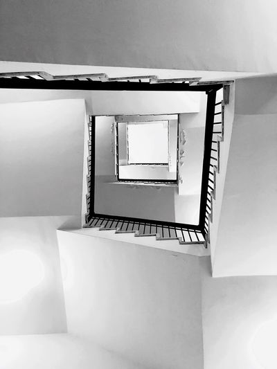 How can we understand that ? Steps And Staircases Staircase Architecture Spiral Staircase Spiral Indoors  Built Structure Directly Below Shape Design A New Beginning