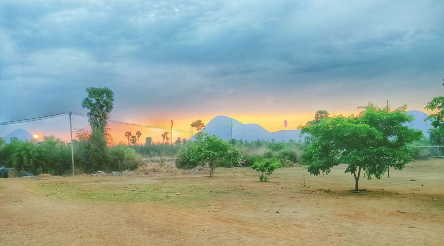 Mountains Plants Sunset Sky Colors Nature Hanging Out Evening Light Indiapictures Vizag India HDR