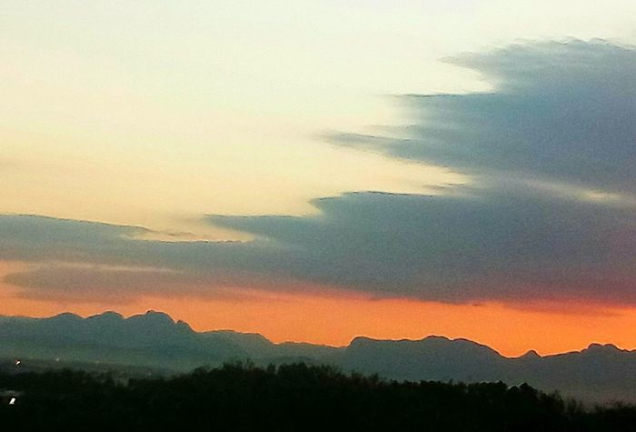 Sunrise Early Morning Mountain Dramatic Sky Nature No People Mountain Range Multi Colored Scenics Outdoors Sky Landscape