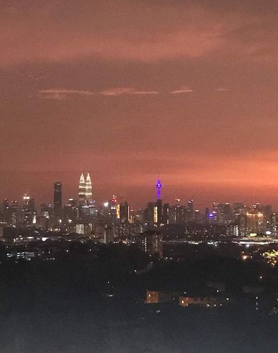 Sunset in Kuala Lumpur Kuala Lumpur Tower Kuala Lumpur Twin Tower Kuala Lumpur City Center Kuala Lumpur Malaysia  Skyscraper Architecture Cityscape Building Exterior City Built Structure Illuminated No People Sky Night Outdoors