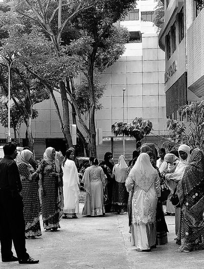 Guests waiting for the groom Wedding Singapore Blackandwhite Black And White Collection  Blackandwhite Photography EyeEm BlackandWhite