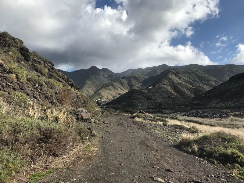 Sky And Clouds Gran Canaria Long Way Way Mountain Nature Tranquility Lonely Mountain Landscape Nature Sky Beauty In Nature Day Outdoors No People