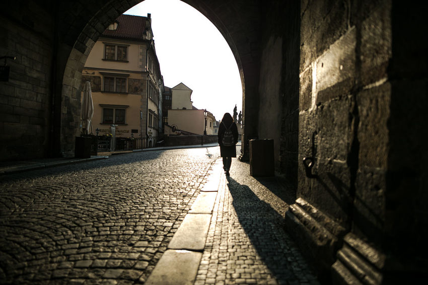 EyeEm Gallery Lennon Wall Praha The Week on EyeEm Tourist Travel Arch Architectural Column Architecture Building Exterior Built Structure Canonphotography Day Full Length History Indoors  Lifestyles Light And Shadow Men One Person People Real People Standing Sunlight Travel Destinations Walking Women