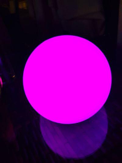 Circle Purple Pink Color No People Illuminated Purplelightball Night Terace Cafe Terace View Lights