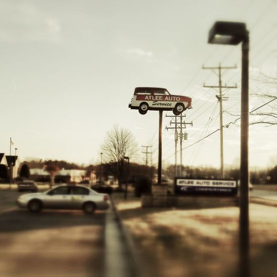 Just a car on a pole. IPSLandscape IPhone5 IPhoneography Snapseed Vintage Fx IPS2016Street