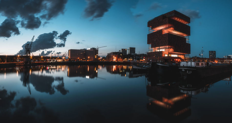 Architecture Building Building Exterior Built Structure City Cloud - Sky Dusk Illuminated Nature Nautical Vessel Night No People Outdoors Reflection Sea Sky Water Waterfront