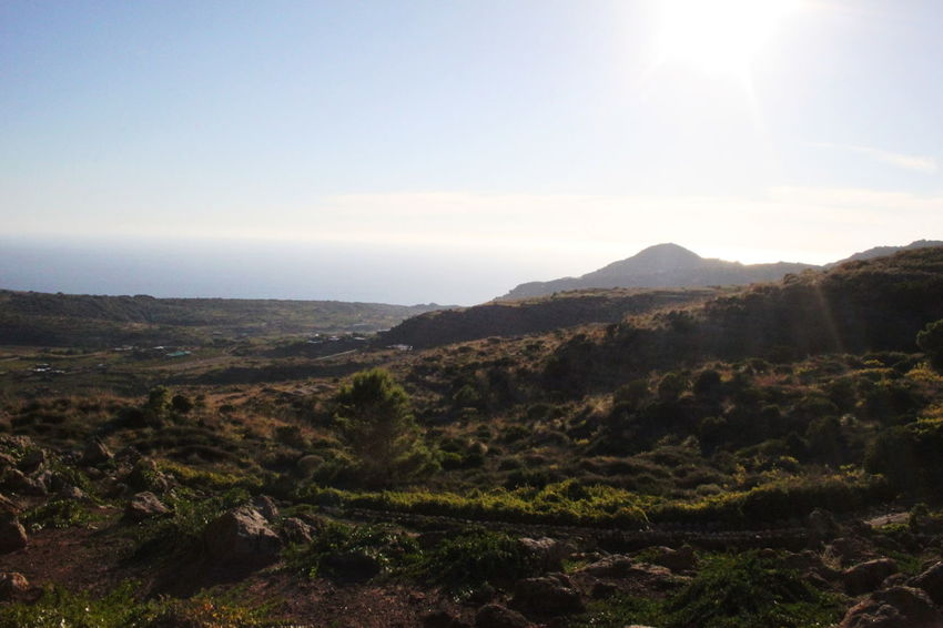 Pantelleria Beauty In Nature Day Landscape Mountain Nature No People October 2015 Outdoors Scenery Sky Sun Sunlight