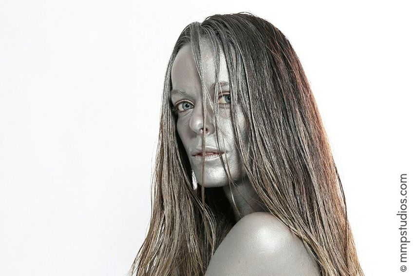 @mmpstudios_com @melvinmaya Photography Photoshoot Model Ombre Hair Bodypaint Silver  Eyes People Random Follow Me