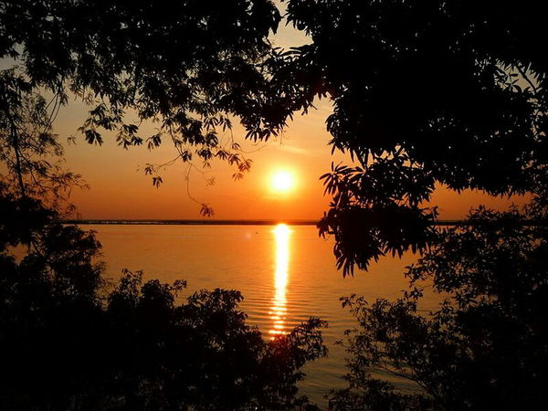 Sunset Tranquil Scene Reflection Beauty In Nature Nature Rioparana