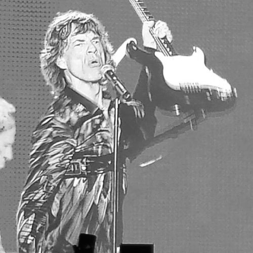Mick Jagger. 70 years old and one hell of a rocker. Mickjagger TheRollingStones Stonesonfire 14onfire rocknroll concert abudhabi thinkflash