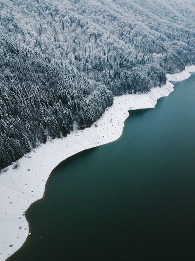 Aerial Shot DJI Mavic Pro Landscape_Collection Nature Snow ❄ Above Aerial View Beauty In Nature Cold Temperature Day High Angle View Lake Lake View Landscape Mountain Nature Nature_collection No People Outdoors Scenics Snow Tranquil Scene Tranquility Water Winter Go Higher