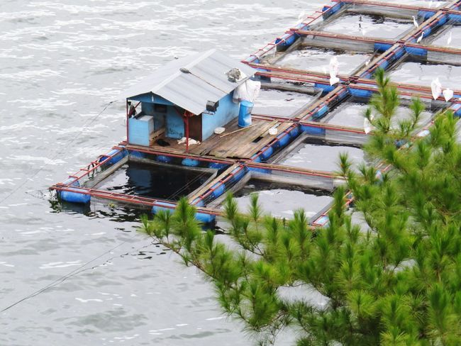 Floating house. Floating Floating On Water House Floating House Water Lake Toba Lake Toba