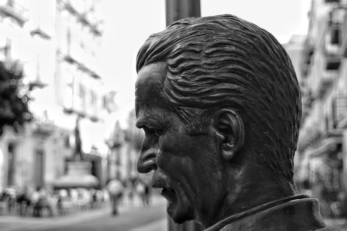 Focus On Foreground Headshot Human Face Statue Outdoors Close-up Day One Man Only Human Body Part One Person Adult People Adults Only City Only Men The Great Outdoors - 2017 EyeEm Awards The Street Photographer - 2017 EyeEm Awards Full Length Building Exterior Ancient Politics And Government