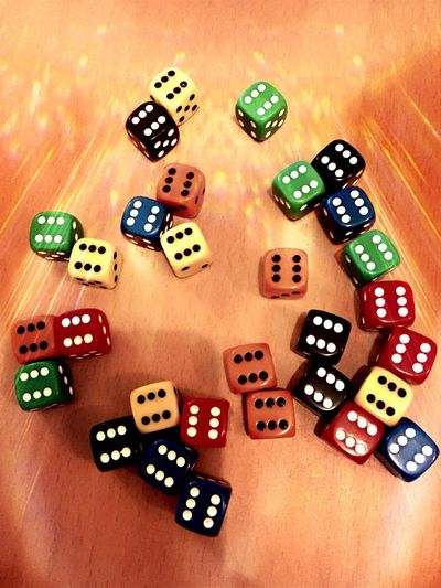 WOW Lucky Dice Game Dice Game Roll A Six Roll The Die Colours Numbers Lots Lucky