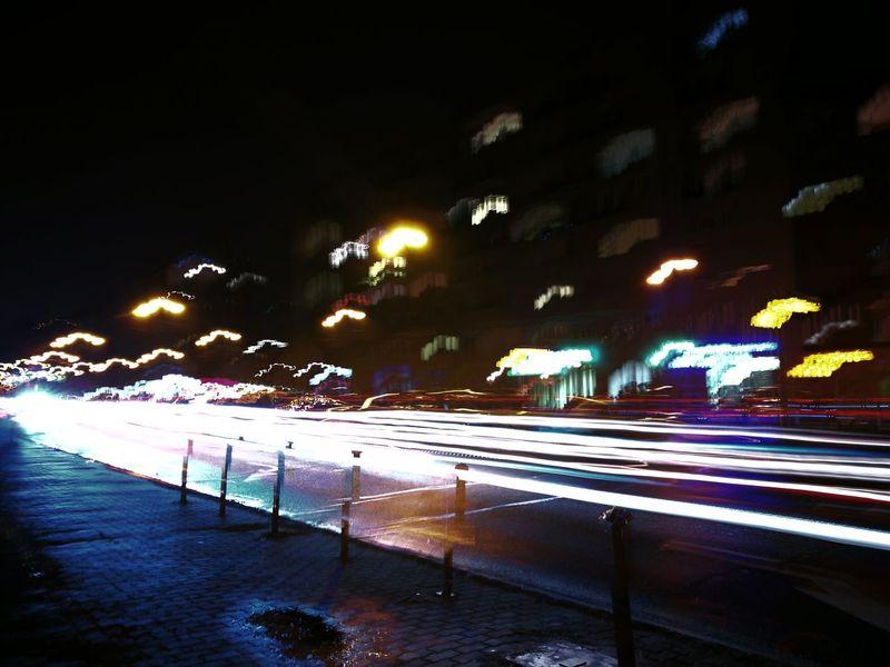 Light Lines Traffic Lights Night Lights