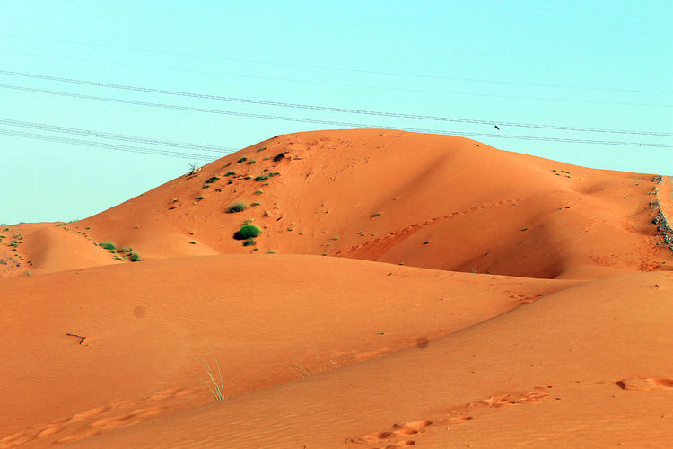 Sand Mountains Arid Climate Beauty In Nature Canon Clear Sky Day Desert Landscape Nature No People Outdoors Remote Sand Sand Dune Scenics Sky Tranquil Scene Tranquility