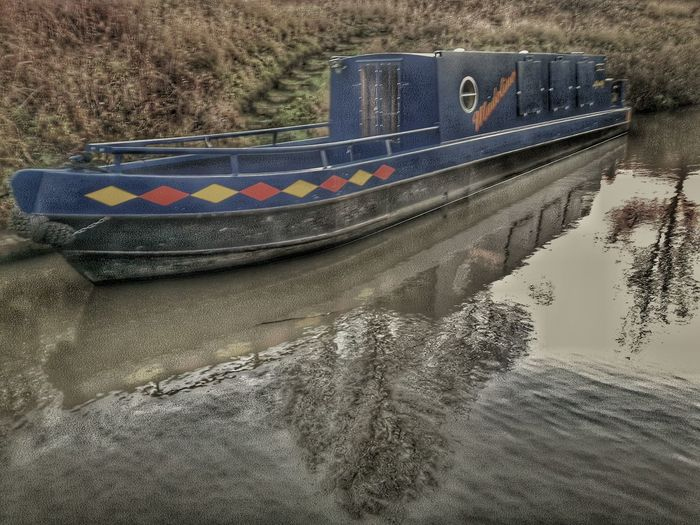 Chesterfield Canal Canal Barge Reflections Tow Path Water Barge Canal Boat Blue Boat Blue Barge Blue Canal Barge Mobilephotography Samsung Galaxy S5 British Canal English Canal EyeEm Gallery