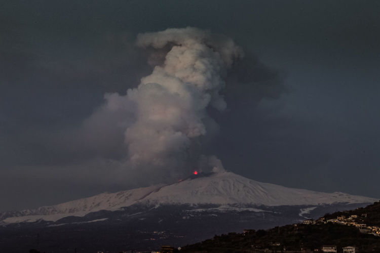 Catania Mountain Sky Smoke - Physical Structure Environment Volcano Beauty In Nature Power Geology Erupting Power In Nature Cloud - Sky Scenics - Nature No People Landscape Nature Mountain Range Sign Cold Temperature Non-urban Scene Outdoors Mountain Peak Volcanic Crater Pollution Snowcapped Mountain