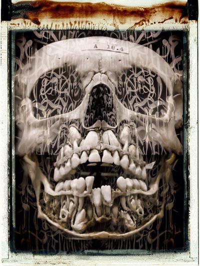 Skull scribble ... Street Art