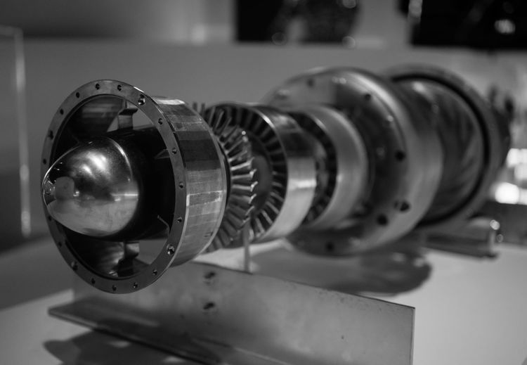 3D printed Jet Engine 3d Printing Close-up Equipment Indoors  Jet Engine Man Made Object Metal Metallic Modern No People Propulsion Science Single Object Still Life Technology Monochrome Photography