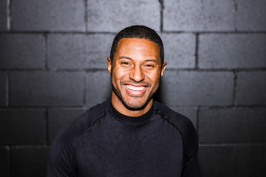 Patrice Bernier Portrait Montréal Flash Soccer Player One Man Only One Person Mid Adult Only Men Confidence  Adults Only Portrait People Black Color Smiling Looking At Camera Front View Indoors  Happiness Real People Day Young Adult