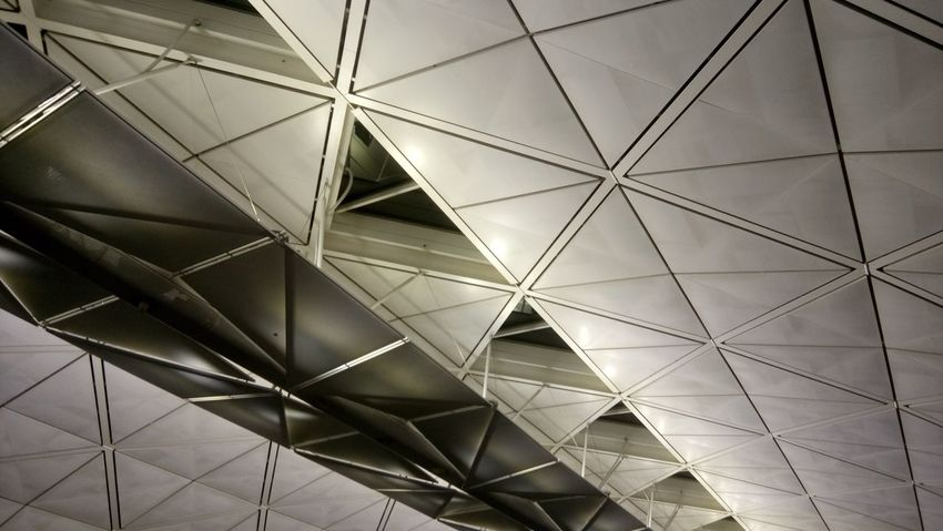 Pattern Architecture Close-up Cealing Metal Top View Indoors  Building Geometric Architecture Geometric Shapes