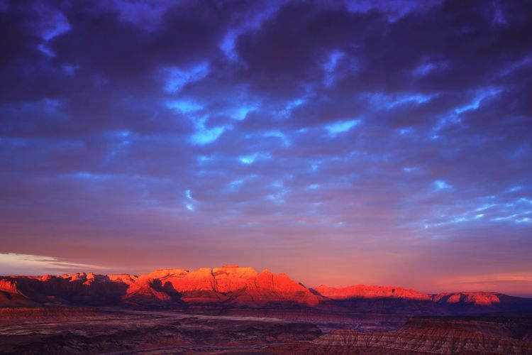 last light illuminates zion's west temple Landscape Southern Utah  Utah Desert Sky And Clouds Horizon Zion National Park Outdoors Weather Gooseberry Mesa Dramatic Sky Sunset Mountain Red Sky Landscape Storm Cloud Arid Climate Arid Landscape The Great Outdoors - 2018 EyeEm Awards